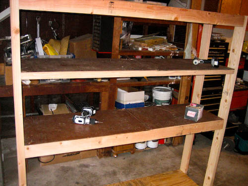"""1/4"""" board for the upper shelves (where lighter things will be placed)"""